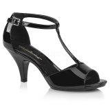 Laklæder 8 cm Fabulicious BELLE-371 højhælede sandaler til kvinder