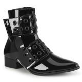 Laklæder WARLOCK-55 spidse boots - mænd winklepicker boots 2 spænder
