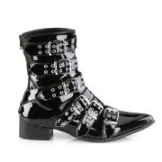 Laklæder WARLOCK-70 spidse boots - mænd winklepicker boots 6 spænder