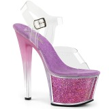 Lavender 18 cm SKY-308G-T glitter platform sandals shoes