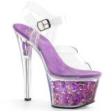 Lavender 18 cm SKY-308GF glitter platform sandals shoes