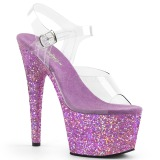 Lavender glitter 18 cm Pleaser ADORE-708LG Pole dancing high heels shoes
