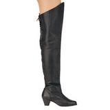 Leather 6,5 cm MAIDEN-8828 Overknees Boots Flat Heels