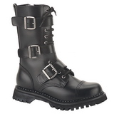 Leather RIOT-12 Punk Ankle Boots Gothic Mens Boots