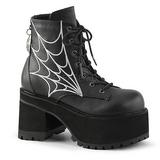 Leatherette 10 cm RANGER-105 lolita ankle boots platform