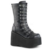 Leatherette 11,5 cm DEMONIA KERA-50 goth boots with platform