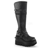 Leatherette 11,5 cm SHAKER-101 lolita knee boots goth platform boots