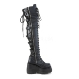 Leatherette 11,5 cm SHAKER-350 Platform Thigh High Boots