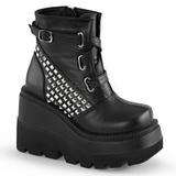 Leatherette 11,5 cm SHAKER-50 lolita ankle boots goth wedge platform