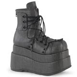 Leatherette 11 cm DEMONIA BEAR-120 goth ankle boots