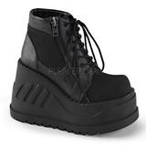Leatherette 12,5 cm STOMP-10 lolita ankle boots goth wedge platform