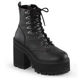 Leatherette 12 cm ASSAULT-100 goth lolita platform ankle boots
