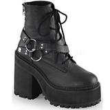 Leatherette 12 cm ASSAULT-101 goth lolita platform ankle boots