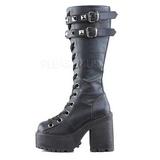Leatherette 12 cm ASSAULT-202 lolita knee boots goth platform boots