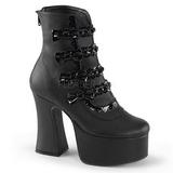 Leatherette 12 cm SLUSH-60 goth lolita ankle boots platform
