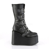 Leatherette 14 cm SWING-230 cyberpunk platform boots