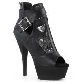Leatherette 15 cm Pleaser KISS-257 platform sandals
