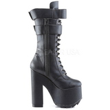 Leatherette 16 cm CRAMPS-202 womens buckle boots with platform