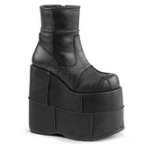 Leatherette 18 cm STACK-201 Platform Mens Gothic Ankle Boots