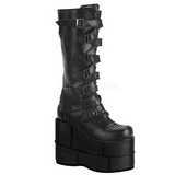 Leatherette 18 cm STACK-308 Platform Mens Gothic Boots
