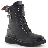 Leatherette 3,5 cm RIVAL-309 punk ankle boots