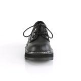 Leatherette 3 cm LILITH-99 Black punk shoes with laces