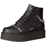 Leatherette 5 cm V-CREEPER-565 Platform Mens Creepers Ankle Boots