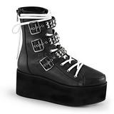 Leatherette 7 cm GRIP-101 goth lolita platform ankle boots