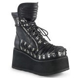 Leatherette 8,5 cm DEMONIA CLASH-150 goth ankle boots
