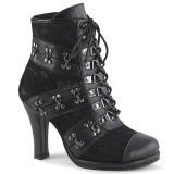 Leatherette 9,5 cm DEMONIA GLAM-202 goth lolita ankle boots