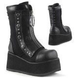 Leatherette 9 cm DEMONIA CLASH-206 goth ankle boots