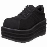 Leatherette 9 cm TEMPO-08 Platform Mens Gothic Shoes