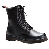 Leatherette Black DEFIANT-100 Mens Lace Up Ankle Boots