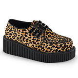 Leopard 5 cm CREEPER-112 creepers shoes women gothic platform shoes