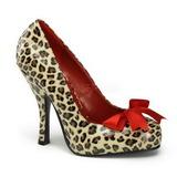 Leopard Pattern 12 cm CUTIEPIE-06 Women Pumps Shoes Flat Heels
