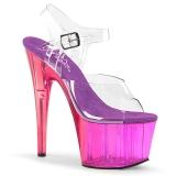 Lilla 18 cm ADORE-708MCT Akryl plateau high heels sko