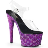Lilla 18 cm ADORE-708MSLG glitter plateau sandaler sko