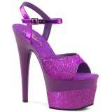 Lilla 18 cm ADORE-709-2G glitter plateau sandaler sko
