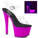 Lilla 18 cm SKY-308UV Neon plateau high heels sko