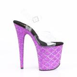 Lilla 20 cm FLAMINGO-808MSLG glitter plateau sandaler sko
