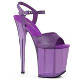 Lilla 20 cm FLAMINGO-809T Akryl plateau high heels sko