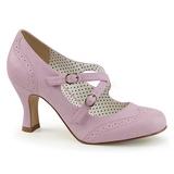 Lilla 7,5 cm FLAPPER-35 Pinup pumps sko med lave hæle