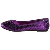 Lilla STAR-16G glitter ballerina sko med flade hæle