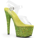 Lime glitter 18 cm Pleaser ADORE-708LG Pole dancing high heels shoes