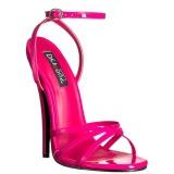 Lyserød 15 cm DOMINA-108 fetish sandaler med stilethæl