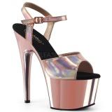 Lyserød 18 cm ADORE-709HGCH Hologram plateau high heels sko