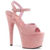 Lyserød Kunstlæder 18 cm ADORE-709FS højhælede sandaler til kvinder