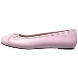 Lyserød Laklæder ANNA-01 store størrelser ballerina sko