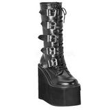 Mat 14 cm SWING-220 plateau damestøvler med spænder