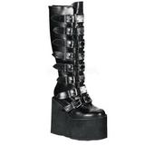 Mat 14 cm SWING-815 plateau damestøvler med spænder